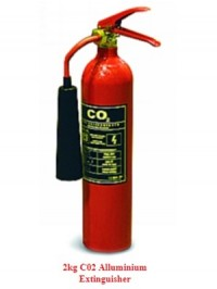 2kg CO2 Aliminium Fire Extinguisher as supplied by Attic Stairs Ireland