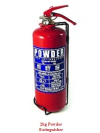 2kg Powder Fire Extinguisher as supplied by Attic Stairs Ireland